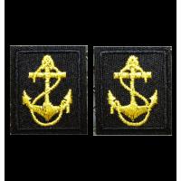 Вышитые петличные эмблемы ВМФ