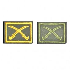 Вышитые петличные эмблемы принадлежности к казачьему войску