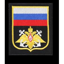 Нарукавный знак с эмблемой ВМФ желтый кант