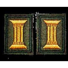 Вышитые петличные эмблемы