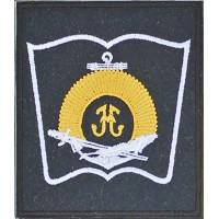 Вышитый нарукавный знак Санкт-Петербургского Нахимовского военно-морского училища. REV-1