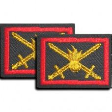 Вышитые петличные эмблемы на липучке. Сухопутные войска.