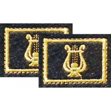 Вышитые петличные эмблемы на липучке. Военно-оркестровая служба