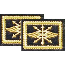 Вышитые петличные эмблемы на липучке. Войска связи