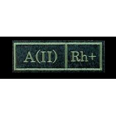 Нашивка Группа крови A(II) Rh+