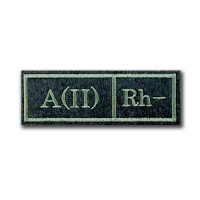 Нашивка Группа крови A(II) Rh-
